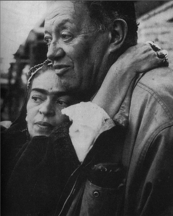Frida Kahlo con Diego Rivera